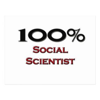 Científico social del 100 por ciento postal