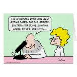 científicos aerobios de las bacterias anaerobias tarjeton