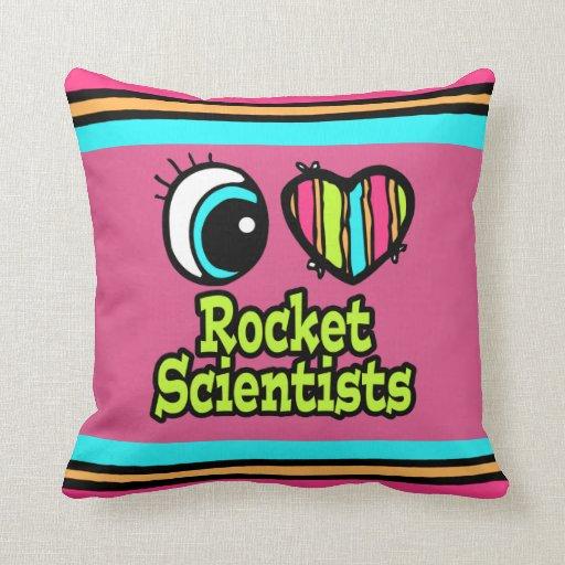 Científicos brillantes de Rocket del amor del cora Almohadas
