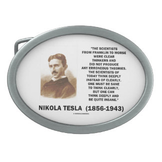 Científicos de Nikola Tesla de Franklin a Morse Hebilla Cinturón Oval