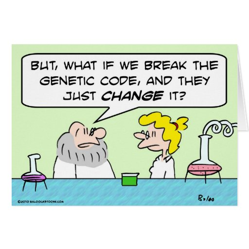 científicos del cambio del código genético tarjetón