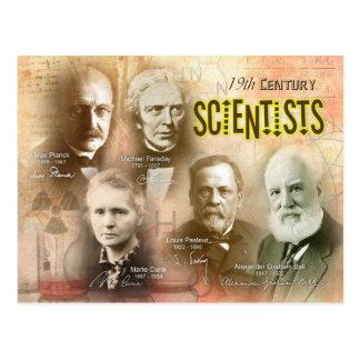 Científicos del siglo XIX famosos Tarjetas Postales