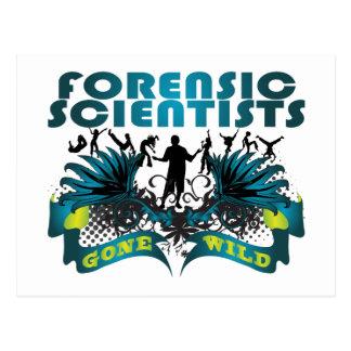 Científicos forenses idos salvajes postal