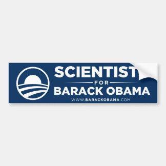Científicos para la pegatina para el parachoques d etiqueta de parachoque