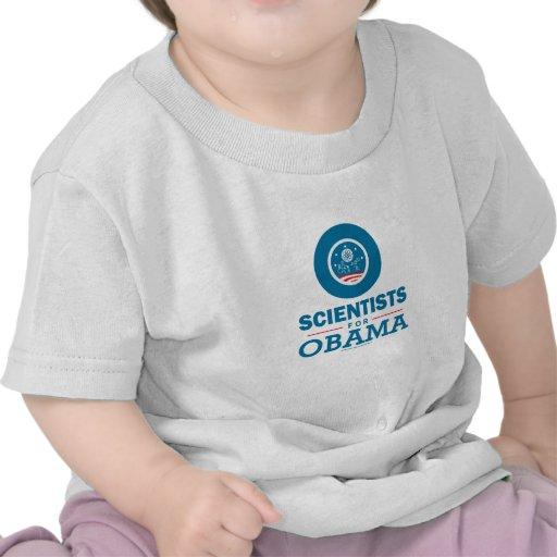 Científicos para Obama Camisetas