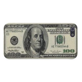 Cientos artes del billete de dólar iPhone 5 carcasa