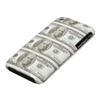 Cientos billetes de dólar en el caso de Barely Case-Mate iPhone 3 Coberturas