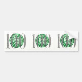 Cientos billetes de dólar pegatina para auto