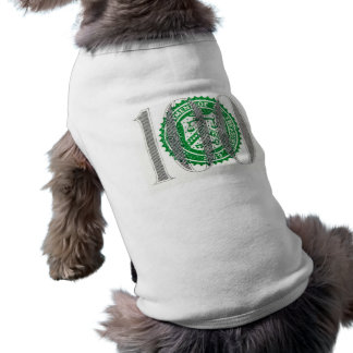 Cientos billetes de dólar playera sin mangas para perro