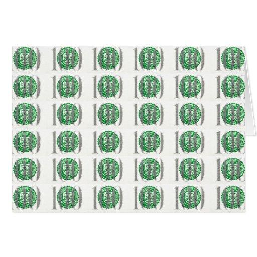 Cientos billetes de dólar tarjeton