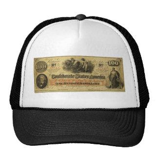 Cientos dólares de estados de América confederados Gorra