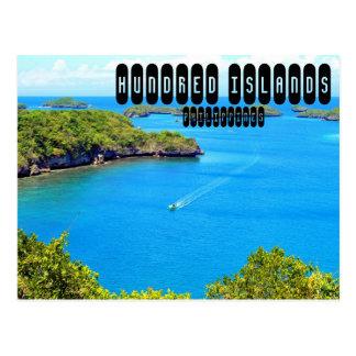 Cientos islas tarjetas postales