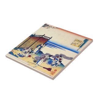 Cientos poemas explicados por la enfermera Hokusai Azulejos Ceramicos
