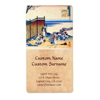Cientos poemas explicados por la enfermera Hokusai Etiquetas De Envío