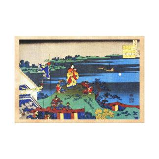 Cientos poemas explicados por la enfermera Hokusai Impresión De Lienzo