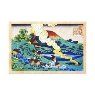Cientos poemas explicados por la enfermera Hokusai Lona Envuelta Para Galerias