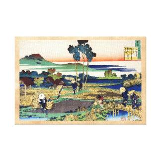 Cientos poemas explicados por la enfermera Hokusai Impresiones En Lona