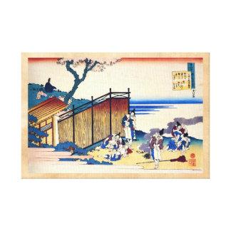 Cientos poemas explicados por la enfermera Hokusai Lienzo Envuelto Para Galerías