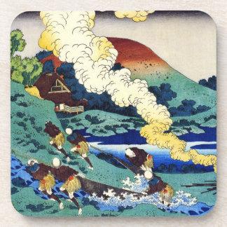 Cientos poemas explicados por la enfermera Hokusai Posavasos De Bebida