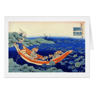 Cientos poemas explicados por la enfermera Hokusai Tarjeta Pequeña
