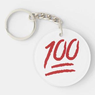 Cientos puntos del símbolo Emoji Llavero Redondo Acrílico A Doble Cara