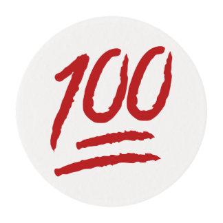 Cientos puntos del símbolo Emoji Papel De Azúcar Redondo
