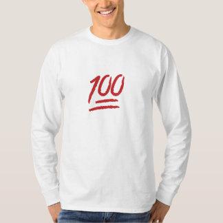Cientos puntos del símbolo Emoji Poleras