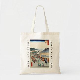 Cientos vistas famosas de Edo Ando Hiroshige Bolsa Tela Barata