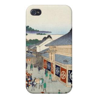 Cientos vistas famosas de Edo Ando Hiroshige iPhone 4/4S Funda