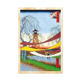 Cientos vistas famosas de Edo Ando Hiroshige Lona Envuelta Para Galerías