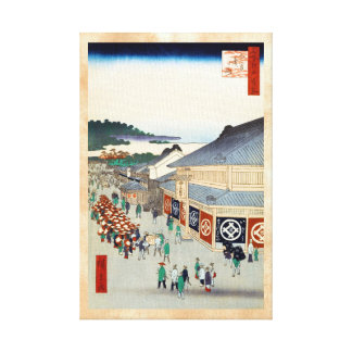 Cientos vistas famosas de Edo Ando Hiroshige Impresión De Lienzo