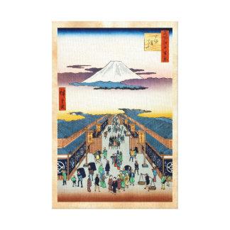 Cientos vistas famosas de Edo Ando Hiroshige Lona Estirada Galerias