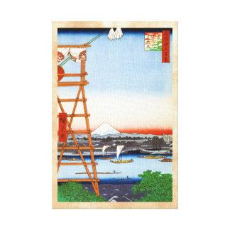 Cientos vistas famosas de Edo Ando Hiroshige Impresiones En Lona Estiradas