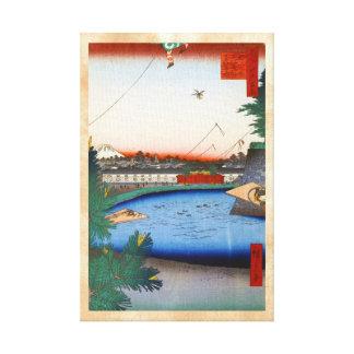 Cientos vistas famosas de Edo Ando Hiroshige Impresión En Lona Estirada