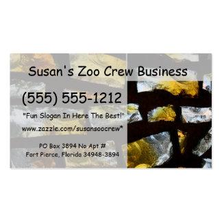 Cierre amarillo y claro del vitral encima de la fo tarjetas de visita