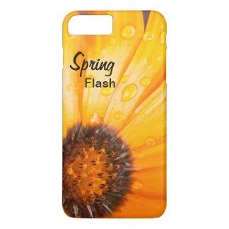 Cierre anaranjado de la margarita africana del funda iPhone 7 plus