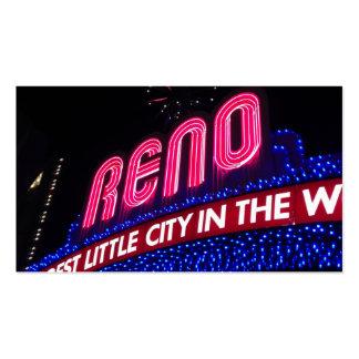 Cierre azul y rosado del arco de Reno Tarjetas De Visita