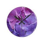 Cierre azul y rosado del hortensia para arriba reloj