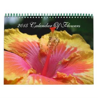 Cierre clasificado de la fotografía de las flores  calendarios