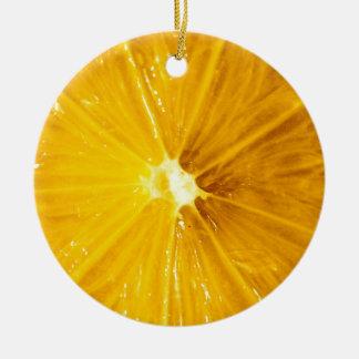Cierre colorido brillante del limón para arriba adorno redondo de cerámica