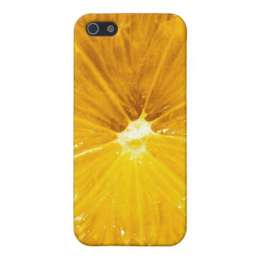Cierre colorido brillante del limón para arriba iPhone 5 carcasa