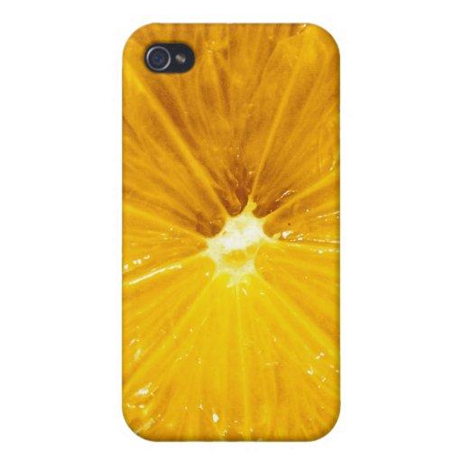 Cierre colorido brillante del limón para arriba iPhone 4/4S carcasas