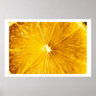 Cierre colorido brillante del limón para arriba póster