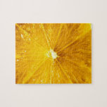 Cierre colorido brillante del limón para arriba rompecabeza