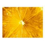 Cierre colorido brillante del limón para arriba postales