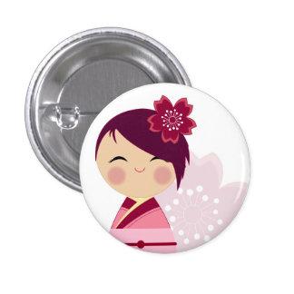 Cierre de Kokeshi Sakura encima del Pin
