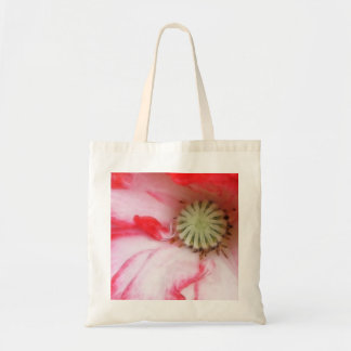 Cierre de la amapola roja y blanca para arriba bolsa