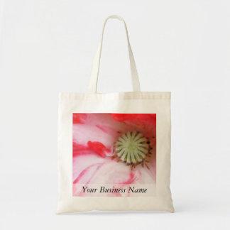 Cierre de la amapola roja y blanca para arriba bolsas