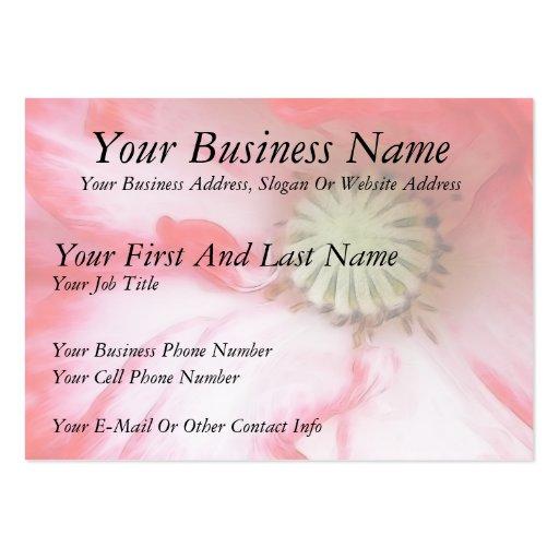 Cierre de la amapola roja y blanca para arriba tarjetas de visita