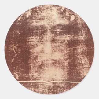 Cierre de la cara de Jesús para arriba en la Pegatina Redonda